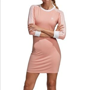 Nwt Adidas 3 stripe dust pink dress sz M